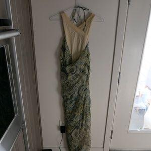 KENZO VTG Green Cream Wrap Dress 38/0